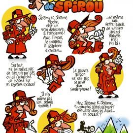 Spirou déguisé en Jérôme K. Jérôme Bloche